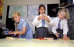 Woodwork class at primary school, UK