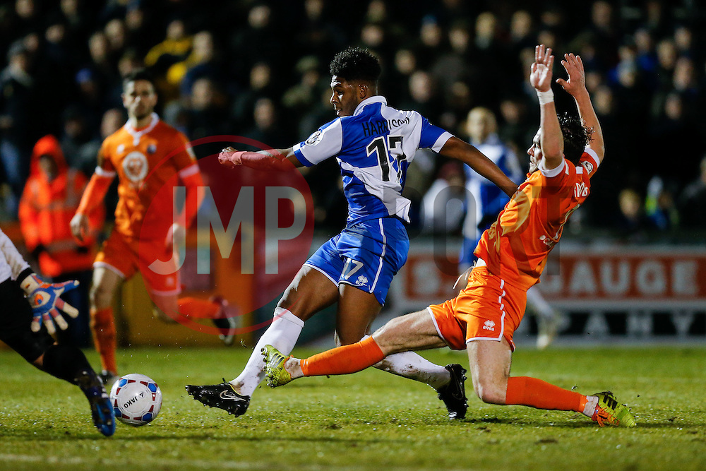 Ellis Harrison of Bristol Rovers scores a goal to make it 2-1 - Photo mandatory by-line: Rogan Thomson/JMP - 07966 386802 - 24/02/2015 - SPORT - FOOTBALL - Bristol, England - Memorial Stadium - Bristol Rovers v Braintree Town - Vanarama Conference Premier.