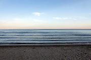 Mediterranean sea coast during sunset