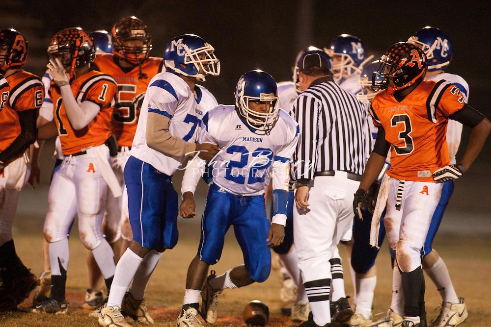 MCHS Varsity Football .at Altavista Colonels .Region B Semi Final .Altavista 10, Madison 0 .11/20/09