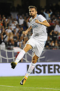CHICAGO, IL - AUGUST 02: Real Madrid forward Borja Mayoral (21) celebrates his goal in the second half during a soccer match between the MLS All-Stars and Real Madrid on August 2, 2017, at Soldier Field, in Chicago, IL. The game ended in a 1-1 tie with Real Madrid winning on penalty kicks 4-2. (Photo by Patrick Gorski/Icon Sportswire)