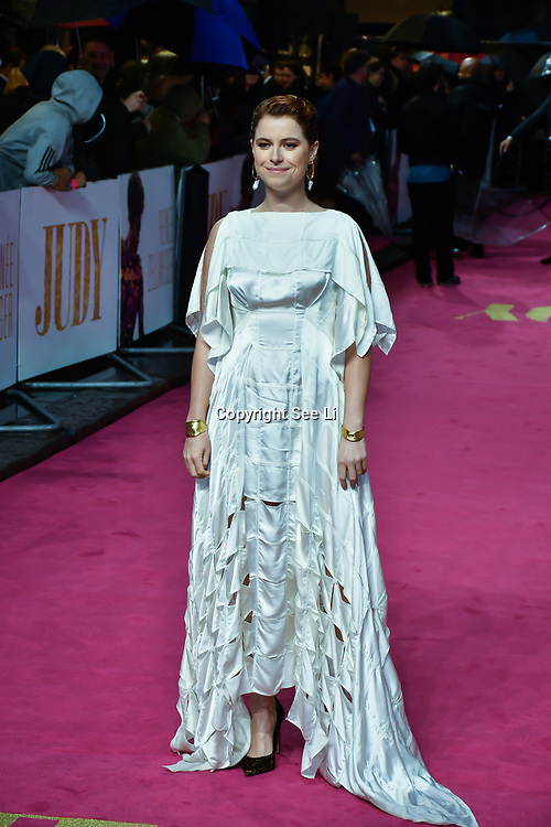 Jessie Buckley arrivers at the Judy - London premiere at Curzon Mayfair, 38 Curzon Street, on 30 September 2019, London, United Kingdom