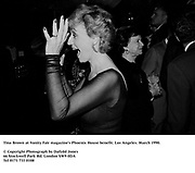 Tina Brown at Vanity Fair magazine's Phoenix House benefit. Los Angeles. March 1990.<br />