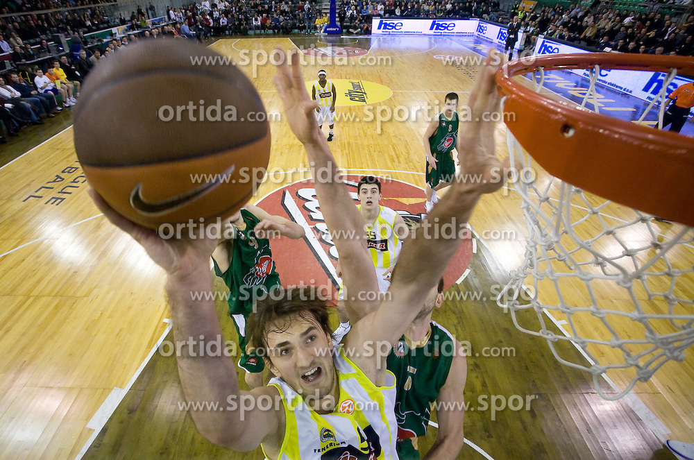 Semih Erden of Fenerbahce at Euroleague basketball game in Round 9 of Group C between KK Union Olimpija, Ljubljana and Fenerbahce Ulker, Istanbul, on January 8, 2009, in Arena Tivoli, Ljubljana, Slovenia. Fenerbahce won 90:70. (Photo by Vid Ponikvar / SportIda).