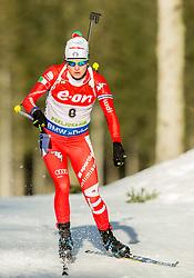 Nicole Gontier of Italy competes during Women 7.5 km Sprint at day 1 of IBU Biathlon World Cup 2014/2015 Pokljuka, on December 18, 2014 in Rudno polje, Pokljuka, Slovenia. Photo by Vid Ponikvar / Sportida