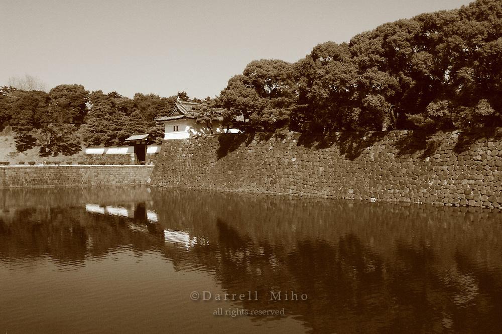 Mar 4, 2006; Tokyo, JPN; Imperial Palace.Gaisen-bori and Sakurada-mon gate at the Imperial Palace...Photo credit: Darrell Miho