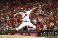 October 6, 2017 - Washington, DC, USA - Washington Nationals starting pitcher Stephen Strasburg works in the first inning against the Chicago Cubs in Game 1 of a National League Division Series on Friday, Oct. 6, 2017, at Nationals Park in Washington D.C. (Credit Image: © Brian Cassella/TNS via ZUMA Wire)