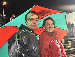Under Cover of the umbrella Mayo supporters John and Marie King look out on the action at McHale Park on saturday as Mayo took on the Dubs.<br /> Pic Conor McKeown