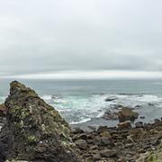 Panoramafoto, panoramaphotography, landscapes, landschap. Panorama over de Atlantische Oceaan bij Arnarstapi, IJsland