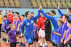 Tean Slovenia before friendly handball match between Slovenia and Srbija, on October 27th, 2019 in Športna dvorana Lukna, Maribor, Slovenia. Photo by Milos Vujinovic / Sportida