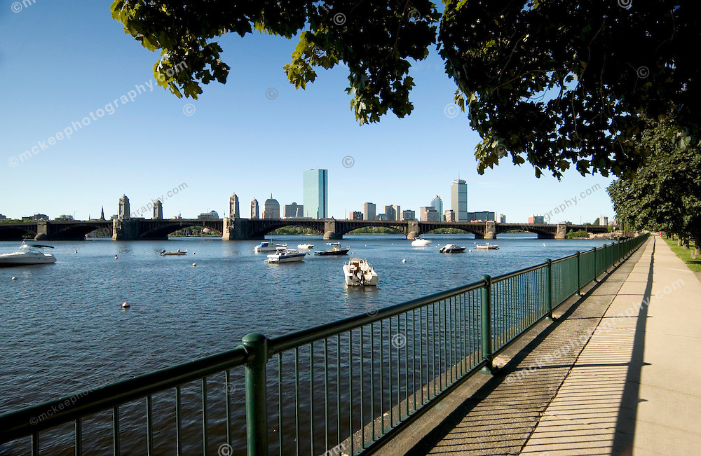 Boston Skyline along the Charles River Basin, Cambridge Side