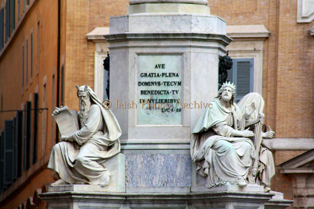 Statue in the Piazza di Spagna located at the bottom of the Spanish Steps. Rome. Italy 2013