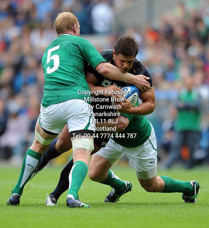 Ross Ford - Scotland hooker.<br /> Scotland v Ireland, EMC Autumn Test, Murrayfield Stadium, Edinburgh, Scotland, Saturday 6th August 2011.<br /> PLEASE CREDIT ***FOTOSPORT/DAVID GIBSON***
