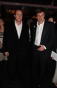 David Cameron and Zac Goldsmith. The Black and White Winter Ball. Old Billingsgate. London. 8 February 2006. -DO NOT ARCHIVE-© Copyright Photograph by Dafydd Jones 66 Stockwell Park Rd. London SW9 0DA Tel 020 7733 0108 www.dafjones.com