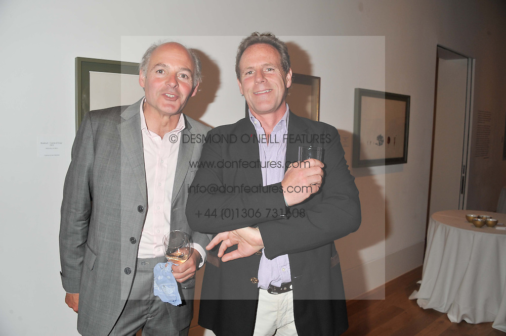 Left to right, brothers LUDOVIC LINDSAY and JAMES LINDSAY at a private view of work by the late Rory McEwen - The Colours of Reality, held at the Shirley Sherwood Gallery, Kew Gardens, London on 20th May 2013.