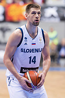 Slovenia Gasper Vidmar during FIBA European Qualifiers to World Cup 2019 between Spain and Slovenia at Coliseum Burgos in Madrid, Spain. November 26, 2017. (ALTERPHOTOS/Borja B.Hojas)