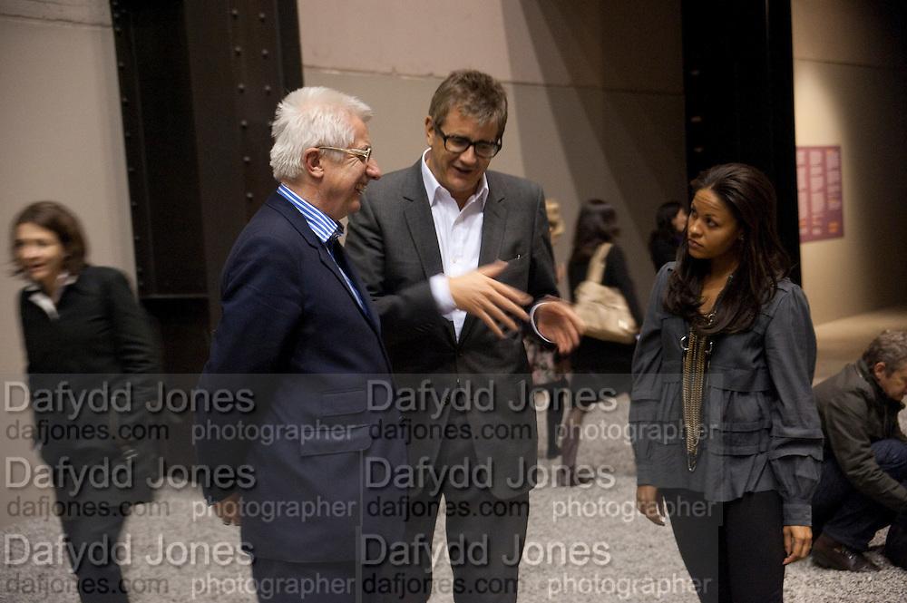 JAY JOPLING; RACHEL BARRETT, Ai Weiwei Unilever series opening. Tate Modern. 11 October 2010. -DO NOT ARCHIVE-© Copyright Photograph by Dafydd Jones. 248 Clapham Rd. London SW9 0PZ. Tel 0207 820 0771. www.dafjones.com.