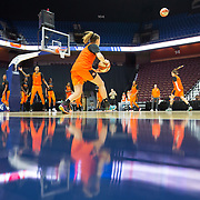 UNCASVILLE, CONNECTICUT- May 2:  The Connecticut Sun team pre season training in preparation for the 2018 WNBA season at Mohegan Sun Arena on May 2, 2018 in Uncasville, Connecticut. (Photo by Tim Clayton/Corbis via Getty Images)