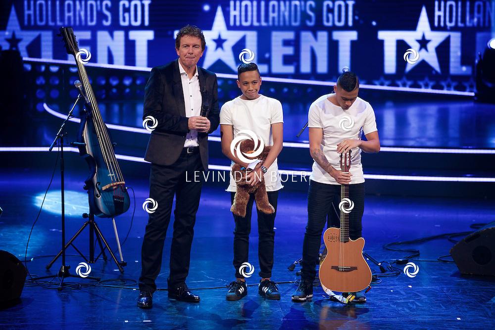 HILVERSUM - In Studio 24 zijn de finales van Holland's Got Talent 2014. Met hier op de foto J'Chanel & Giomaro. FOTO LEVIN DEN BOER - PERSFOTO.NU