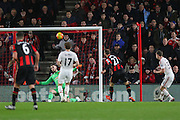 Glenn Murray of Bournemouth shoots over the bar during the Barclays Premier League match between Bournemouth and Manchester United at the Goldsands Stadium, Bournemouth, England on 12 December 2015. Photo by Phil Duncan.