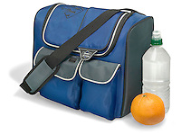 thermos fabric cooler with a shoulder strap