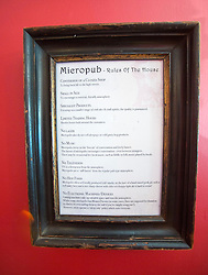 Simon Rutherford, at Rutherfords Micropub in Kelso. Rules of a Micropub.