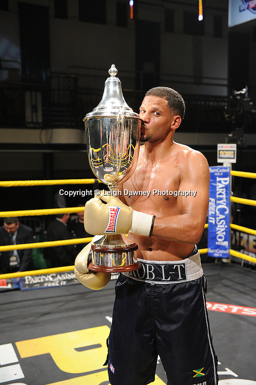 Robert Lloyd Taylor defeats Nick Quigley claiming Prizefighter -  The Light Middleweights II. York Hall, Bethnal Green, London, UK. 15th September 2011. Photo credit: © Leigh Dawney.