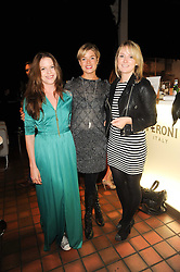 Left to right, sisters OLIVIA LLEWELLYN, ISABELLA ANSTRUTHER-GOUGH-CALTHORPE and ARABELLA LLEWELLYN at the Launch of Peroni Nastro Azzurro Accademia del Film Wrap Party Tour held atThe Boiler House, 152 Brick Lane, London E1 on 25th August 2010.