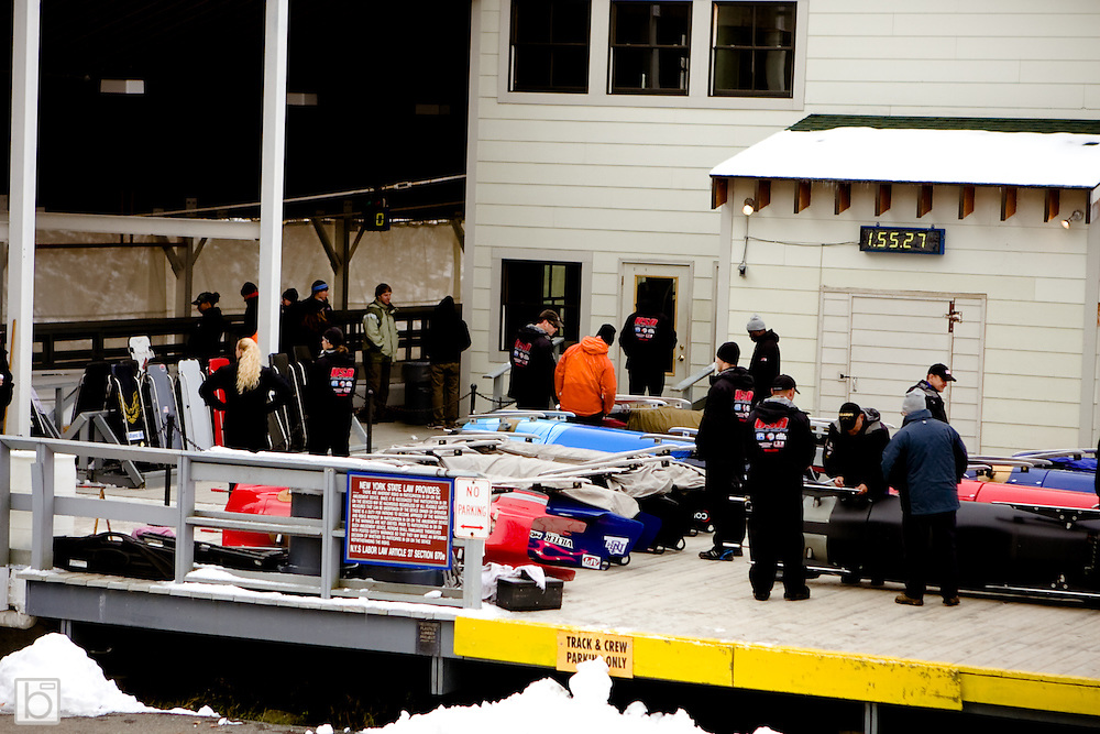 15 October 2009: at the US Bobsled Olympic Team Trials at the Olympic Sports Complex in lake Placid, N.Y.