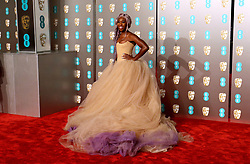 Cynthia Erivo attending the 72nd British Academy Film Awards held at the Royal Albert Hall, Kensington Gore, Kensington, London.