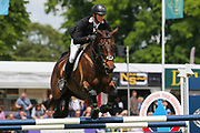 Raphael IV ridden by Jack Pinkney in the Equi-Trek CCI-4* Show Jumping during the Bramham International Horse Trials 2019 at Bramham Park, Bramham, United Kingdom on 9 June 2019.