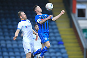 Ian Henderson wins the ball during the The FA Cup 2nd round match between Rochdale and Portsmouth at Spotland, Rochdale, England on 2 December 2018.
