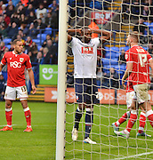 Bolton Forward, Shola Ameobi misses a penalty for bolton during the Sky Bet Championship match between Bolton Wanderers and Bristol City at the Macron Stadium, Bolton, England on 7 November 2015. Photo by Mark Pollitt.