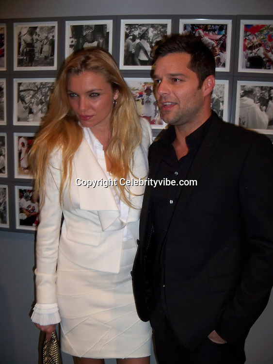 Esther Canadas and Ricky Martin..Vanity Fair Art Basel Party..MOCA Museum..Miami Beach, FL, USA..Tuesday, November 30, 2010..Photo By iSnaper.com/ CelebrityVibe.com.To license this image please call (212) 410 5354; or Email: CelebrityVibe@gmail.com ; .website: www.CelebrityVibe.com.