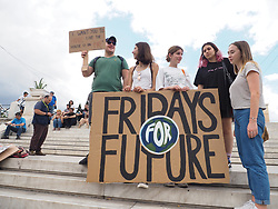 May 24, 2019 - Athens, Attiki, Greece - OLYMPUS DIGITAL CAMERA         .Young activists demonstrate in Athens against climate change as part of th Fridays for Future movement. (Credit Image: © George Panagakis/Pacific Press via ZUMA Wire)