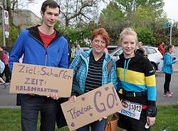 13.04.2014, Wien, AUT, Vienna City Marathon 2014, im Bild Banner für eine Läuferin, Feature, // a banner for female runner, feature, during Vienna City Marathon 2014, Vienna, Austria on 2014/04/13. EXPA Pictures © 2014, PhotoCredit: EXPA/ Gerald Dvorak