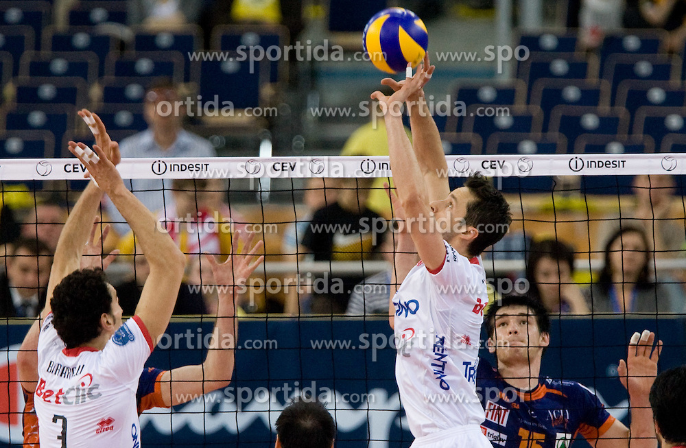 Lukasz Zygadlo of Trentino at 2nd Semifinal match of CEV Indesit Champions League FINAL FOUR tournament between ACH Volley, Bled, SLO and Trentino BetClic Volley, ITA, on May 1, 2010, at Arena Atlas, Lodz, Poland. Trentino defeated ACH 3-1. (Photo by Vid Ponikvar / Sportida)
