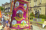 Barnsley Area Road Transport banner, Yorkshire Miners Gala Barnsley 16/6//96