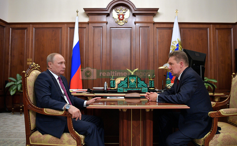 July 4, 2017 - Moscow, Russia - July 4, 2017. - Russia, Moscow. - Russian President Vladimir Putin and Gazprom CEO Aleksey Miller (right) during a meeting. (Credit Image: © Russian Look via ZUMA Wire)