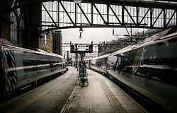 Virgin express passenger trains standing at Glasgow Central Station from London Euston<br /> <br /> (c) Andrew Wilson | Edinburgh Elite media