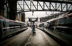 Virgin express passenger trains standing at Glasgow Central Station from London Euston<br /> <br /> (c) Andrew Wilson   Edinburgh Elite media