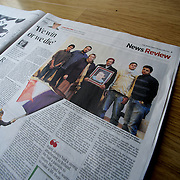 "Tearsheet of ""Libya: We win or we die"" (photo only) published in The Irish Times"