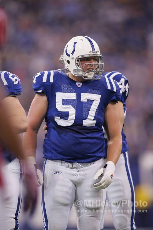 Indianapolis Colts lineman Dylan Gandy seen  during action against the Arizona Cardinals Jan 1, 2006. The Colts defeated the Cardinals 17-13.