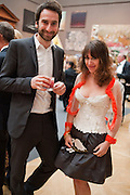 IDRIS KHAN; SARAH MORRIS, Royal Academy of Arts Summer Exhibition Preview Party 2011. Royal Academy. Piccadilly. London. 2 June <br /> <br />  , -DO NOT ARCHIVE-© Copyright Photograph by Dafydd Jones. 248 Clapham Rd. London SW9 0PZ. Tel 0207 820 0771. www.dafjones.com.