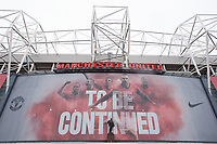 Football - Premier League 2012 / 2013 - Manchester United vs. Swansea<br /> Optimistic banners are displayed at Old Trafford quoting 'To be continued'