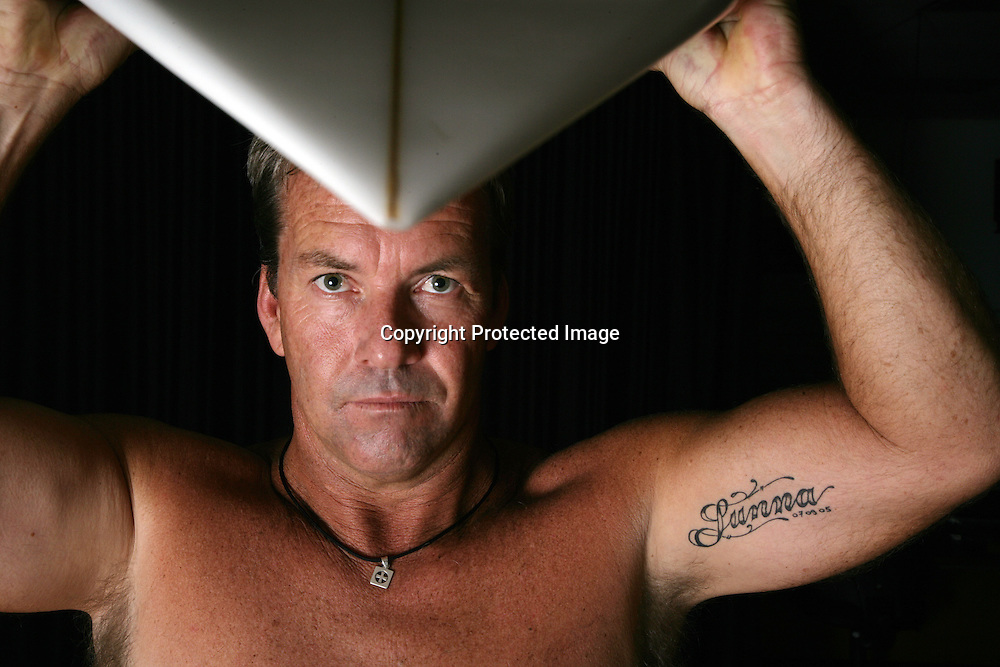 Surfer Gary Elkerton during a photoshoot. 23 May 2007. Photo: Andrew Cornaga/PHOTOSPORT