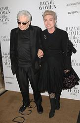 © Licensed to London News Pictures. 04/11/2014, UK. Chris Stein, Debbie Harry, Harper's Bazaar Women of the Year Awards, Claridge's, London UK, 04 November 2014. Photo credit : Richard Goldschmidt/Piqtured/LNP
