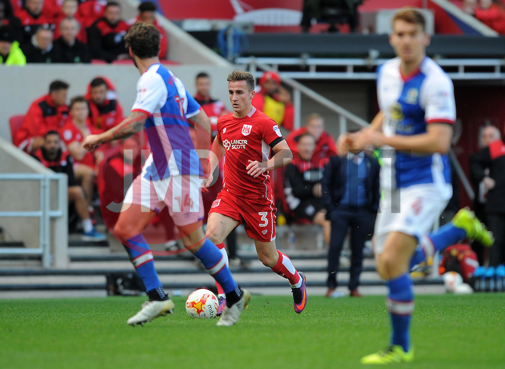 Joe Bryan of Bristol City in action during the Sky Bet Championship match between Bristol City and Blackburn Rovers at Ashton Gate Stadium on 22 October 2016 in Bristol, England - Mandatory by-line: Paul Knight/JMP - 22/10/2016 - FOOTBALL - Ashton Gate Stadium - Bristol, England - Bristol City v Blackburn Rovers - Sky Bet Championship