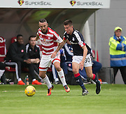 Dundee&rsquo;s Cammy Kerr and Hamilton&rsquo;s Dougie Imrie - Hamilton v Dundee in the Ladbrokes Scottish Premiership at Superseal stadium, Hamilton. Photo: David Young<br /> <br />  - &copy; David Young - www.davidyoungphoto.co.uk - email: davidyoungphoto@gmail.com