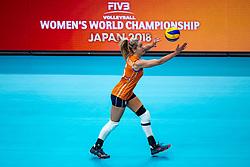 03-10-2018 NED: World Championship Volleyball Women day 5, Yokohama<br /> Argentina - Netherlands 0-3 / Maret Balkestein-Grothues #6 of Netherlands